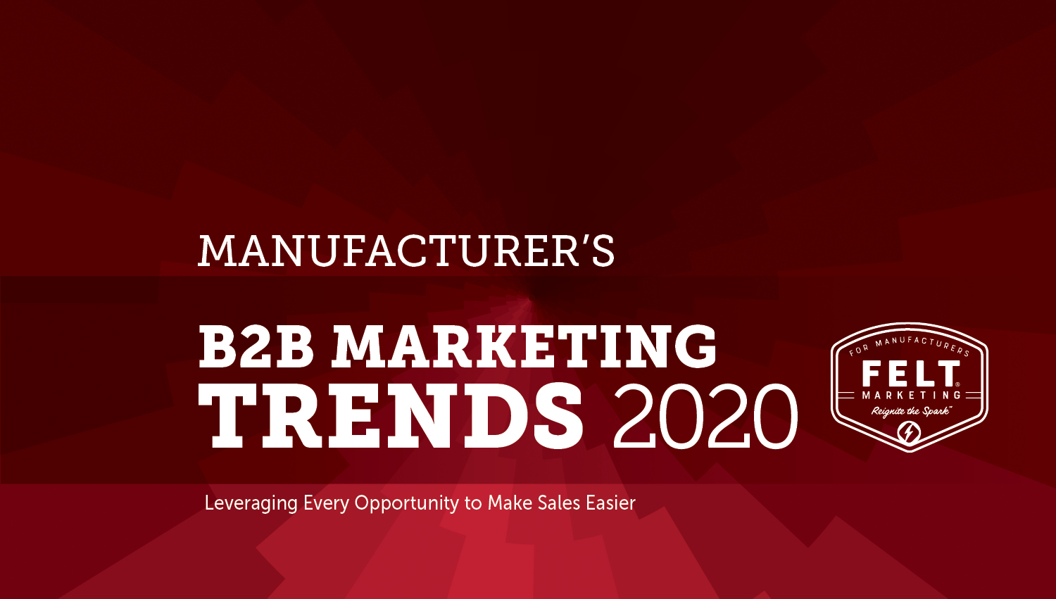 Manufacturers B2B Marketing Trends 2020